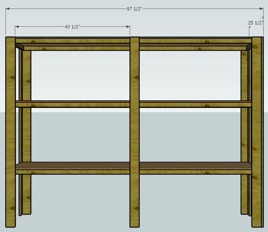 Cheap ugly functional shelving for Inexpensive greenhouse shelving wood